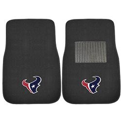 FANMATS 17353 NFL Houston Texans 2-Piece Embroidered Car Mat