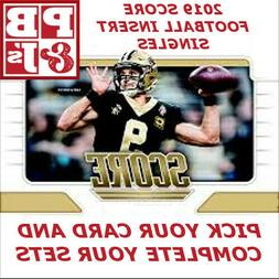 2019 Score Football Insert Singles You Pick & Complete Your