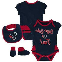 Houston Texans nfl INFANT BABY NEWBORN Jersey Booties Bib 0