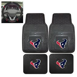 5pc NFL Houston Texans All Weather Rubber Floor Mats & Steer