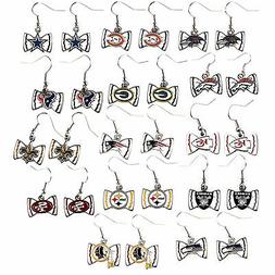 bow tie earring dangle NFL Pick your team