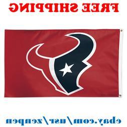 Deluxe Houston Texans Team Logo Flag Banner 3x5 ft NFL Footb