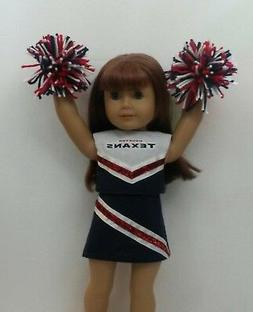 """Doll Clothes fits 18"""" American Girl Doll Houston Texans Chee"""