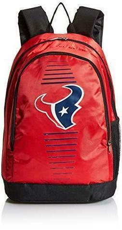 FOCO NFL HOUSTON TEXANS STRIPE BACKPACK, NEW, RED & BLACK, L