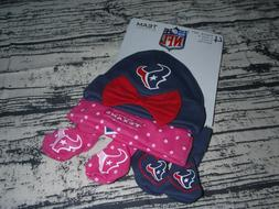 NFL Team Apparel Houston Texans 0-6 Month Baby Girl Hat Boot