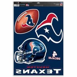 "Houston Texans 11"" x 17"" Multi Use Decals - Auto, Walls, Win"