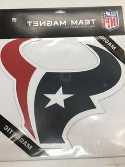 "Houston Texans 12"" Logo Car Truck Auto Vinyl Magnet"