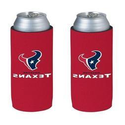 Houston Texans 2 Pack Ultra Slim Can Holder - Skinny Koozie