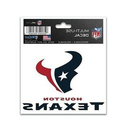 "HOUSTON TEXANS 3""X4"" MULTI-USE DECAL PERFECT FOR CAR WINDOWS"