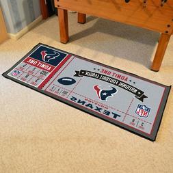 """Houston Texans 30"""" X 72"""" Ticket Runner Area Rug Floor Mat"""