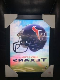 houston texans 3d holographic picture framed