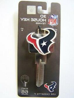 Houston Texans 3D Kwikset house key blank  KW1