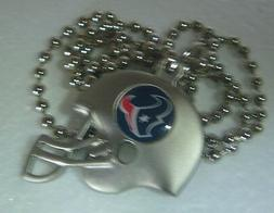 Houston Texans 3D Silver Pewter Helmet Charm Necklace - NFL