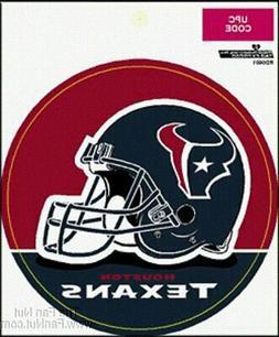 "Houston Texans 4"" Round Vinyl Decal PV WHITE Bumper Sticker"