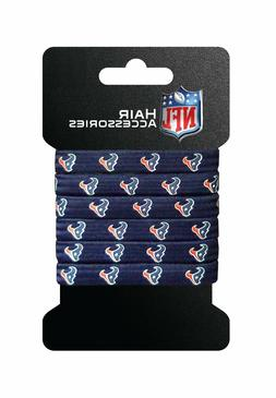 Houston Texans 6 Pack Ponytail Hair Ties  NFL Pony Tail Clip