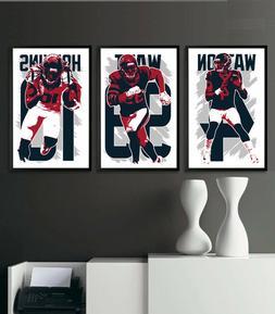 HOUSTON TEXANS art print/poster FAN PACK #1 3 PRINTS! J.J. W