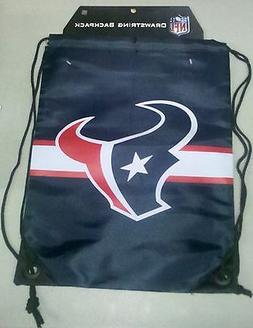 Houston Texans Back Pack/Sack Drawstring Bag/Tote NEW!