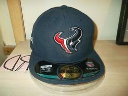 """HOUSTON TEXANS BASEBALL CAP/HAT-NEW ERA 59FIFTY 7 3/8"""" NAVY"""