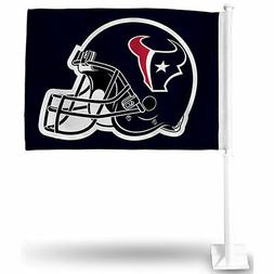 Houston Texans Blue Helmet Car Auto Window Flag