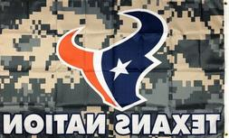 Houston Texans Camo Man-Cave NFL Flag 3x5 ft Sports Banner G