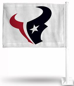 HOUSTON TEXANS CAR FLAG  POLE DOUBLE SIDED