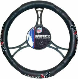 Houston Texans Car Truck Black Steering Wheel Cover NFL