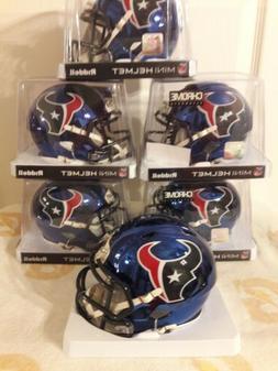 HOUSTON TEXANS Chrome ALTERNATE NFL Riddell Speed Mini Footb