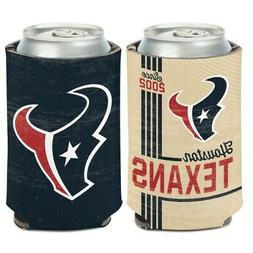 HOUSTON TEXANS CLASSIC LOGO NEOPRENE CAN BOTTLE COOZIE COOLE