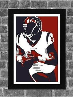Houston Texans Deshaun Watson Portrait Sports Print Art 11x1