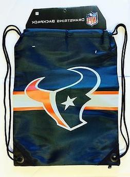 Houston Texans Drawstring Back Pack Back Sack BackPack NEW F
