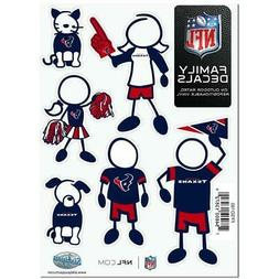 Houston Texans Family Magnet Set  NFL Auto Car Stickers Embl