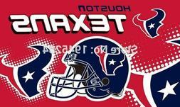 HOUSTON TEXANS FLAG 3'X5' NFL HELMET BANNER: FAST FREE SHIPP