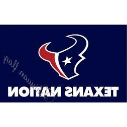 houston texans flag lg new 3x5 man