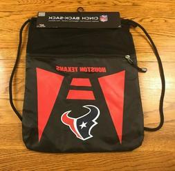 Houston Texans NFL Football Drawstring Bag Cinch Back Sack G