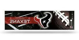Houston Texans Glitter Bumper Sticker  NFL Auto Car Truck De