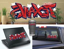 Houston Texans Graffiti Vinyl Vehicle Car Laptop Wall Sticke
