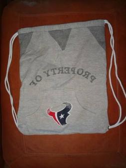 Houston Texans Gray Jersey Backpack Tote Drawstring Bag Litt