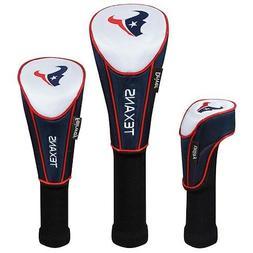 Houston Texans Set of 3 Headcovers