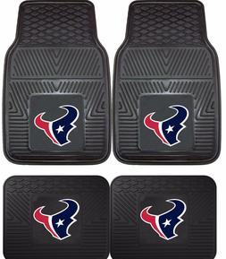 Houston Texans Heavy Duty NFL Floor Mats 2 & 4 pc Sets for C