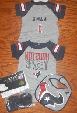 Houston Texans Infant NFL Jersey  Bib & Bootie Set add any n