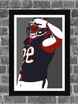 Houston Texans J.J. Watt Portrait Sports Print Art 11x17