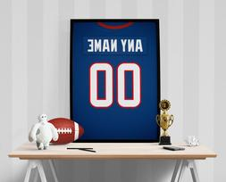 Houston Texans Jersey Poster - Personalized Name & Number FR