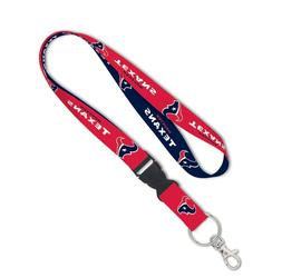 HOUSTON TEXANS LANYARD DETACHABLE BUCKLE BRAND NEW WINCRAFT