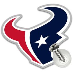 Houston Texans License Plate Screw Cover Auto Badge NFL Acry