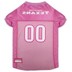 Houston Texans Licensed NFL Pets First Dog Pet Mesh Pink Jer