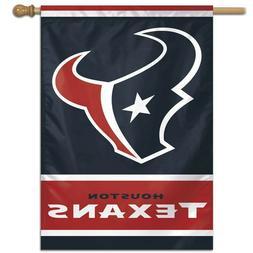 "HOUSTON TEXANS LOGO 28""X40"" BANNER FLAG BRAND NEW WINCRAFT"