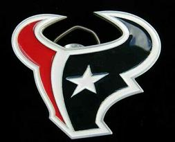 HOUSTON TEXANS LOGO BELT BUCKLE BUCKLES NICE!
