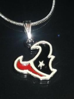 Houston Texans Logo Necklace Pendant Sterling Silver Chain N