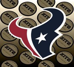 Houston Texans Logo NFL Die Cut Vinyl Sticker Car Window Hoo