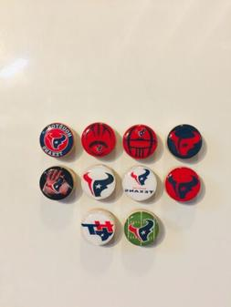 Houston Texans Magnets - Set Of 10 - FREE SHIPPING